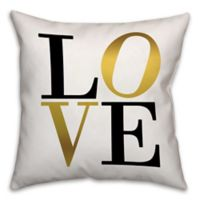 Golden Love 18-Inch Square Throw Pillow