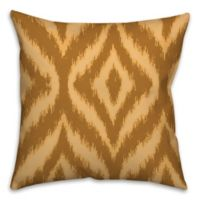 Ikat 18-Inch Square Throw Pillow in Brown/Cream