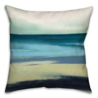 Painterly Seascape 16-Inch Square Throw Pillow