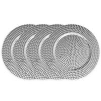 ChargeIt! by Jay Beaded Charger Plates in Silver (Set of 4)