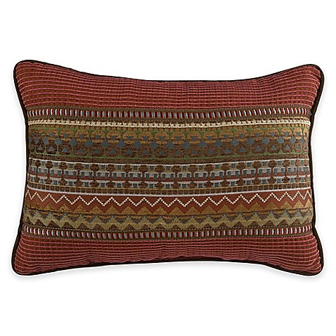 croscill horizons boudoir throw pillow in red brown bed bath beyond. Black Bedroom Furniture Sets. Home Design Ideas