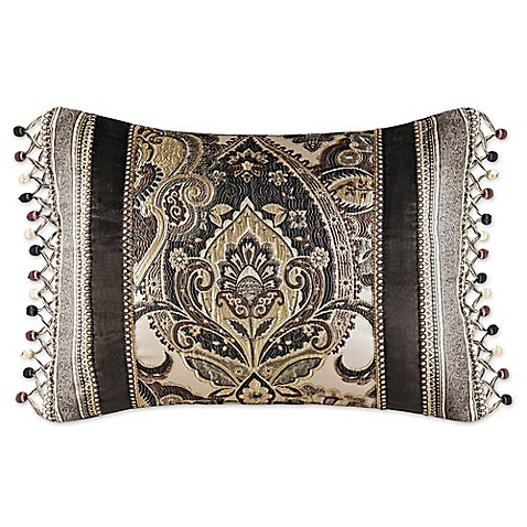 Queen Street Decorative Pillows : J. Queen New York Paloma Boudoir Throw Pillow in Gold - Bed Bath & Beyond