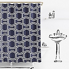 kate spade new york bow tile shower curtain - bed bath & beyond