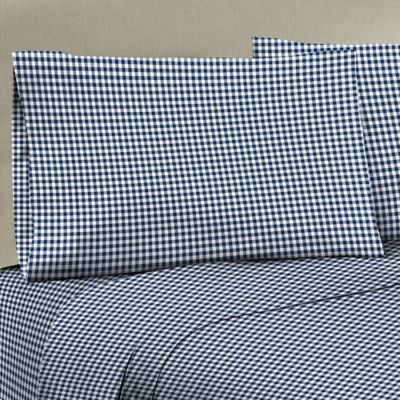 Buy Blue Plaid Sheet Set From Bed Bath Amp Beyond