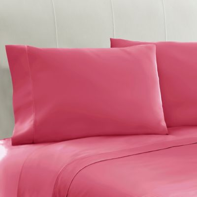 100 cotton sateen standard pillowcases in pink set of