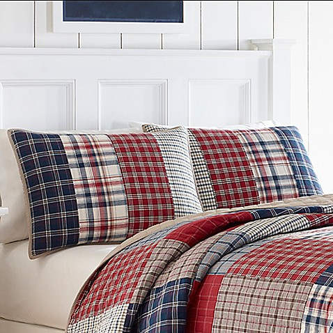Nautica 174 Ansel Standard Pillow Sham In Dark Red Bed Bath