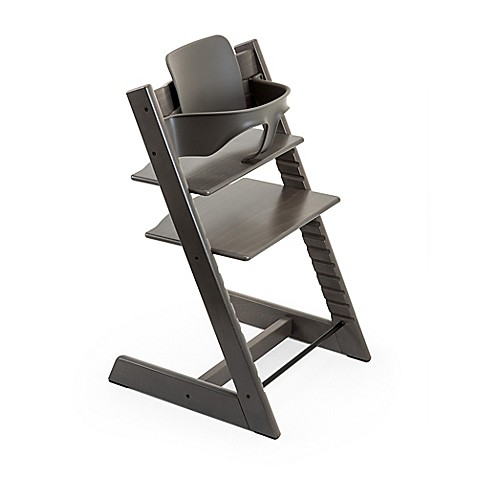 stokke tripp trapp baby set in hazy grey bed bath beyond. Black Bedroom Furniture Sets. Home Design Ideas