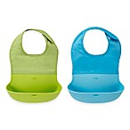 OXO Tot® 2-Pack Roll Up Bibs in Aqua/Green