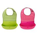 OXO Tot® 2-Pack Roll Up Bibs in Pink/Green