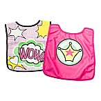 BooginHead®  Wow  Bib and Cape Set in Pink