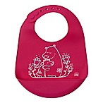 Modern Twist Bears Silicone Bib in Pink