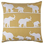 Selma Elephant Throw Pillow in Yellow