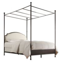 Verona Home Shiloh Twin Canopy Bed in Brown/Bronze