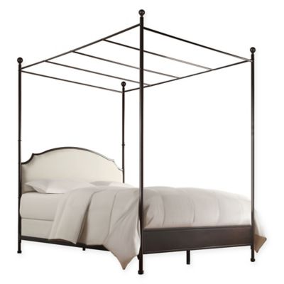 verona home shiloh full canopy bed in brownbronze