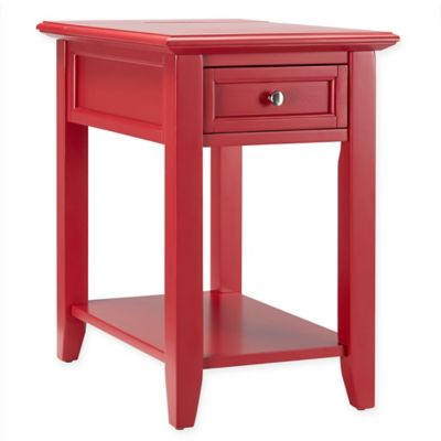 Verona Home Darbey Hidden Outlet Accent Table In Red