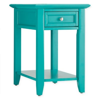 High Quality Verona Home Darbey Hidden Outlet Accent Table In Green
