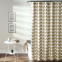 Chevron Shower Curtain in Taupe