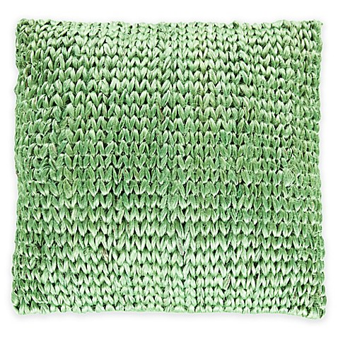 image of Surya Zaragoza Square 20-Inch Throw Pillow in Seafoam Green