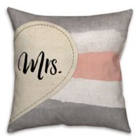"""""""Mr."""" and """"Mrs."""" Dual Sided 16-Inch Throw Pillow"""