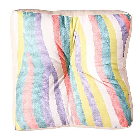 image of Deny Designs Nick Nelson Fruit Stripes Square Floor Pillow