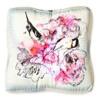 DENY Designs Bel Lefoose Design Birds and Flowers Square Floor Pillow