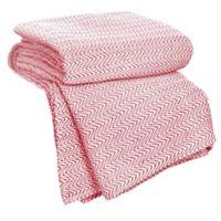 Nottingham Home Chevron Cotton Full/Queen Blanket in Brick