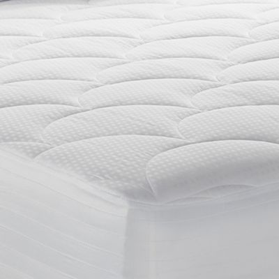 therapedic 500thread count tencel twin xl waterproof mattress pad in white