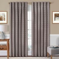 SolarShield® Holly 63-Inch Rod Pocket/Back Tab Room-Darkening Window Curtain Panel in Charcoal