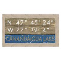 Framed Giclée Canandaigua Lake Framed Coordinates Print Wall Art