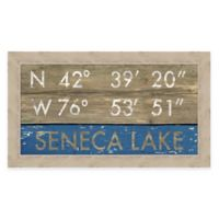 Framed Giclée Seneca Lake Framed Coordinates Print Wall Art