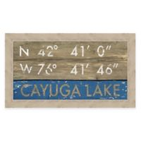 Framed Giclée Cayuga Lake Framed Coordinates Print Wall Art