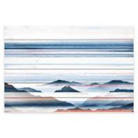 Parvez Taj Hidden Blue Mountains 45-Inch x 30-Inch Pine Wood Wall Art