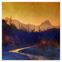 Marmont Hill Sunset Saguaros 32-Inch Square Canvas Wall Art