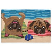 Trans-Ocean Front Porch Pug Life 2-Foot 6-Inch x 4-Foot Indoor/Outdoor Door Mat