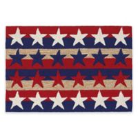 Trans-Ocean Frontporch Stars & Stripes Americana 2-Foot x 3-Foot Indoor/Outdoor Rug