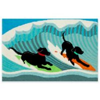 Trans-Ocean Front Porch Surfing Dogs 2-Foot x 3-Foot Indoor/Outdoor Door Mat