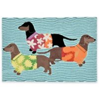 Trans-Ocean Front Porch Tropical Hounds 2-Foot 6-Inch x 4-Foot Door Mat
