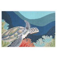 Trans-Ocean Ravella Akumel Ocean 3-Foot x 5-Foot Indoor/Outdoor Area Rug in Blue