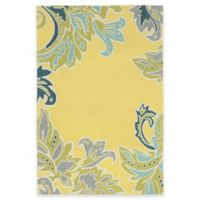 Trans-Ocean Ravella Ornamental Leaf 7-Foot 6-Inch x 9-Foot 6-Inch Indoor/Outdoor Rug in Yellow