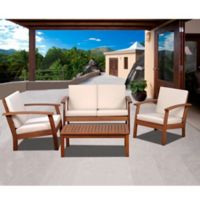 Amazonia Guadalupe 4-Piece Conversation Set in White