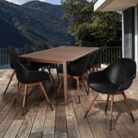 Amazonia Chamonix 9-Piece Outdoor Dining Set in Black