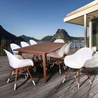Amazonia Chamonix 9-Piece Outdoor Dining Set in White