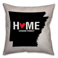 Arkansas State Pride 16-Inch x 16-Inch Square Throw Pillow in Black/White