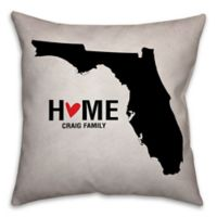 Florida State Pride 16-Inch x 16-Inch Square Throw Pillow in Black/White