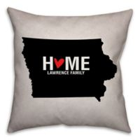 Iowa State Pride 16-Inch x 16-Inch Square Throw Pillow in Black/White