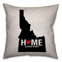 Idaho State Pride 16-Inch x 16-Inch Square Throw Pillow in Black/White