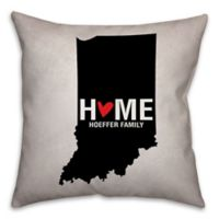 Indiana State Pride 16-Inch x 16-Inch Square Throw Pillow in Black/White