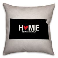 Kansas State Pride 16-Inch x 16-Inch Square Throw Pillow in Black/White