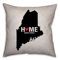 Maine State Pride 16-Inch x 16-Inch Square Throw Pillow in Black/White