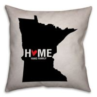 Minnesota State 16-Inch x 16-Inch Pride Square Throw Pillow in Black/White